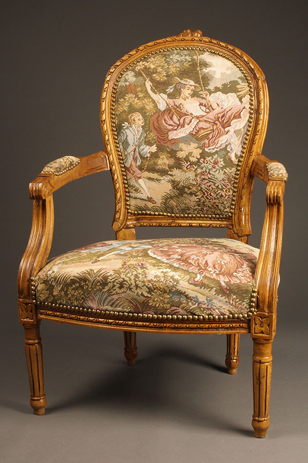 Custom French Louis Xvi Style Arm Chairs