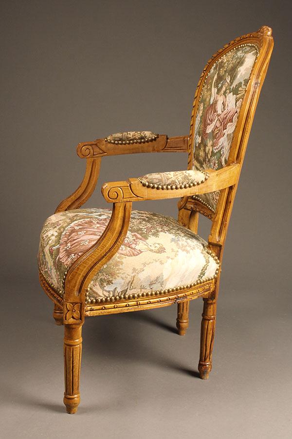Custom French Louis Xvi Style Arm Chairs