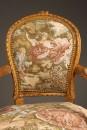 Pair of Louis XVI style arm chairs A5521E