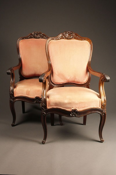 Pair of rosewood chairs A5525A