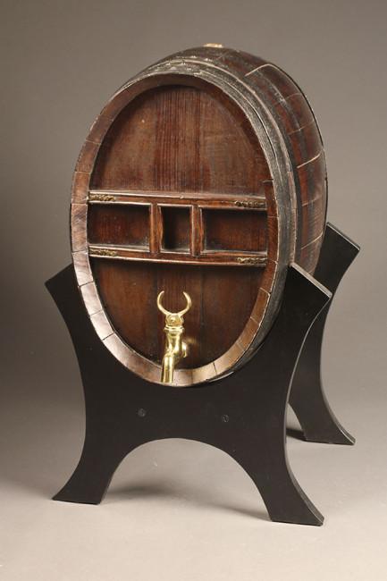antique cognac cask
