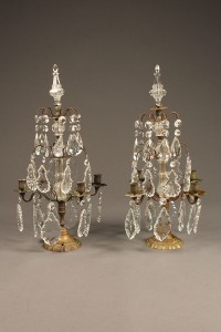 Pair of bronze candelabras A5539A
