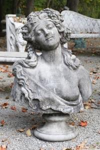 Cast limestone bust A5559A