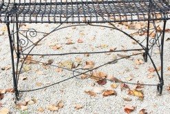 Wire garden bench A5560C