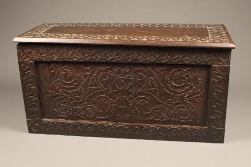 Carved folk art box or coffer A5573A