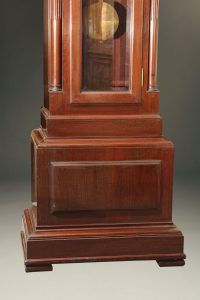 Late 19th century mahogany tall case clock, circa 1890-1900