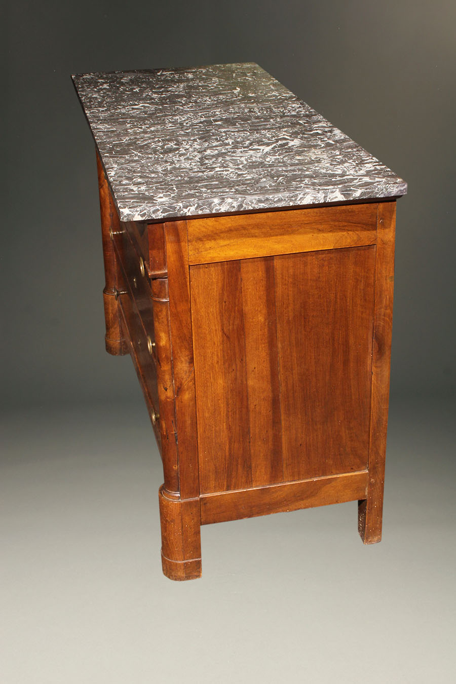 19th century antique french empire commode with marble top. Black Bedroom Furniture Sets. Home Design Ideas