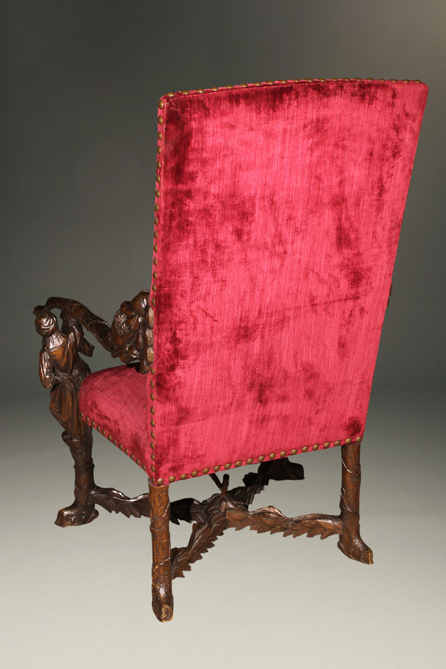 Antique Hand Carved Venetian Armchair