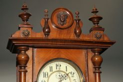 Late 19th century walnut Vienna regulator with 8 day time and strike movement