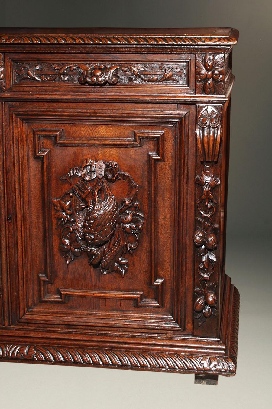 Antique French Louis Xiii Style Buffet In Oak