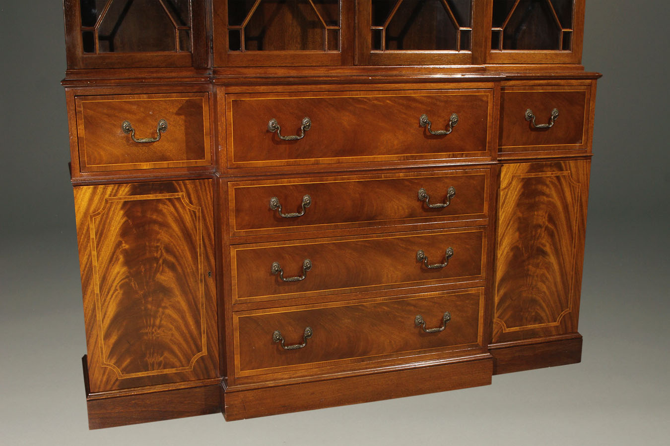 Baker furniture company colonial revival styled breakfront for Baker furniture