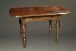 Mid 18th century oak German work table or desk with drawer