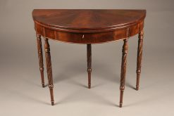 Mid 19th century mahogany, English flip top games table