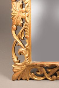19th century French Napoleon III styled gilded mirror