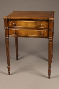 Two drawer Sheraton style mahogany end table