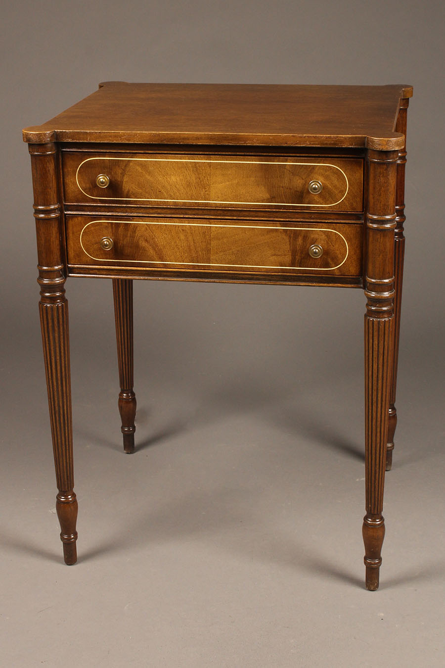 homefurnitureother tables two drawer sheraton style mahogany end - Antique Mahogany End Tables