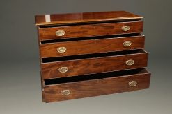 English Chippendale style chest of drawers in mahogany