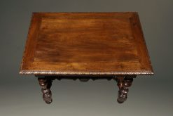 Early 19th century French Louis XIV style country walnut work table with drawer