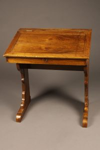Very nice 18th century French school desk in walnut with dovetail construction.