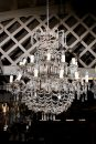 Late 19th century Italian bronze and crystal chandelier with 24 lights from Torino