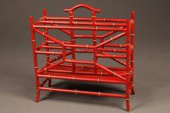 Metal bamboo motif magazine rack.